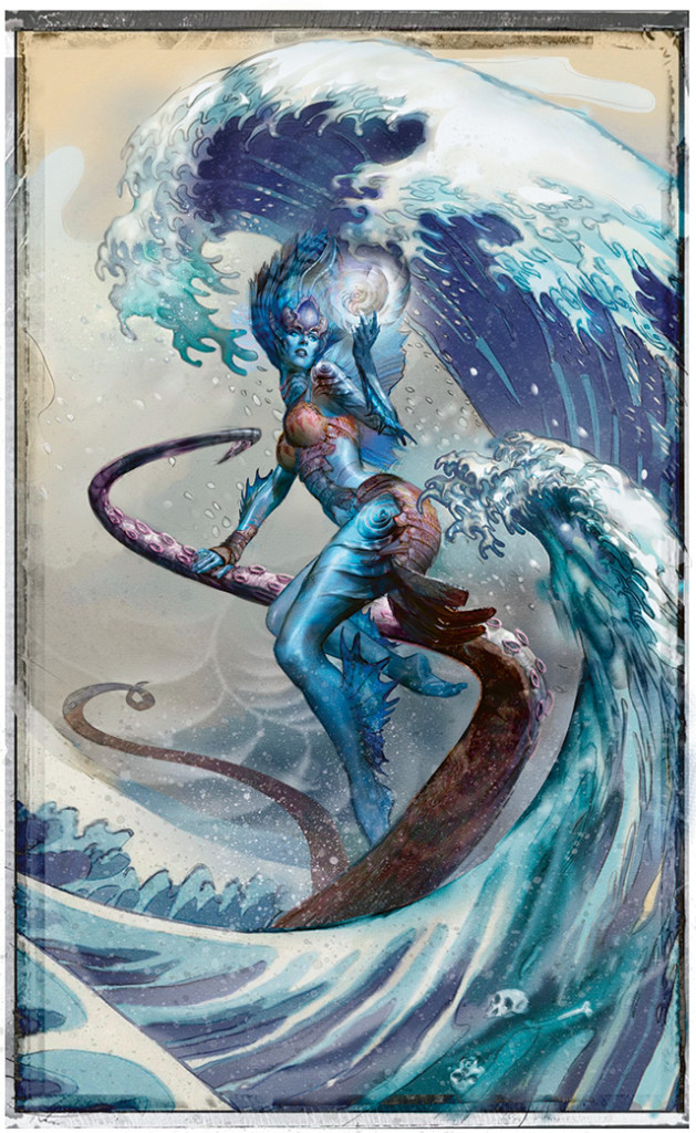 Magic the Gathering Born of the Gods Visual Spoiler Planeswalker Kiora the Crashing Wave Full Art