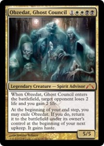 Magic Standard Grand Prix Shizuoka Top Card Obzedat Ghost Council