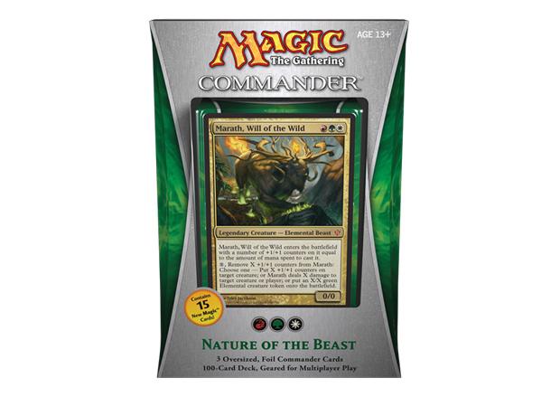 Magic the Gathering Commander 2013 EDH Nature of the Beast Natur der Bestie Deck