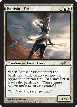 2014 FNM Friday Night Magic Promo Foil Banisher Priest