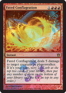 Born-of-the-Gods-Spoiler-Buy-a-Box-FAted-Conflagration, Dire Flames, Nefarious Burn