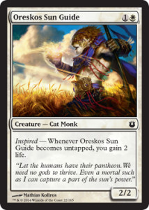 Born of the Gods Spoiler Oreskos Sun Guide