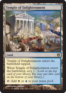 Born of the Gods Spoiler Scry Land Temple of Enlightenment de deutsch