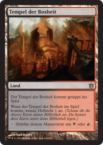 Born of the Gods Spoiler Scry Land Temple of Malice de deutsch
