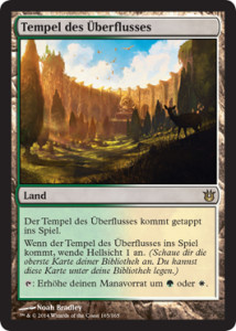 Born of the Gods Spoiler Scry Land Temple of Plenty de deutsch