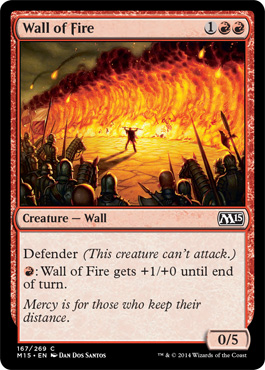 Magic 2015 Spoiler Wall of Fire New Cardframe Neues Kartendesign