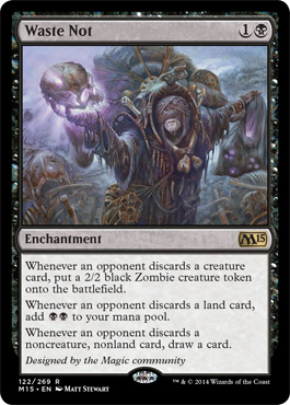 Magic 2015 Spoiler Waste Not New Cardframe Neues Kartendesign