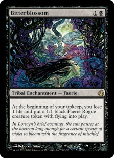 Magic the Gathering Card Image Morningtide Bitterblossom Bitterblüte
