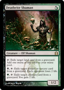 Magic the Gathering Card Image Return to Ravnica Deathrite Shaman Todesritenschamane