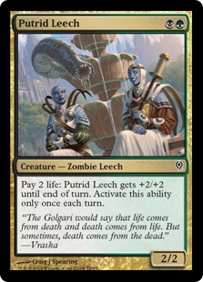 Magic the Gathering Duel Decks Jace vs Vraska Spoiler Putrid Leech