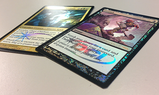 Magic the Gathering Judge Promo Foil 2014 Karador Ghost Chieftain Geisterhäuptling Entomb Einbuddeln