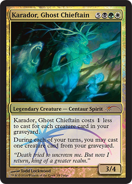 Magic the Gathering Judge Promo Foil 2014 Karador, Ghost Chieftain Geisterhäuptling