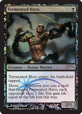 2014 FNM Friday Night Magic Promo Foil Mai Tormented Hero Gepeinigter Held