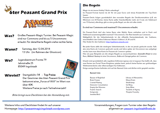 6ter peasant grand prix ingolstadt flyer 2014