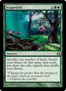 Magic the Gathering Card Image Scapeshift
