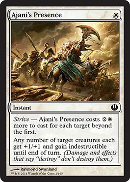 Journey into Nyx Spoiler Ajani's Presence Visual Card Image Bild Karte Reise nach Nyx
