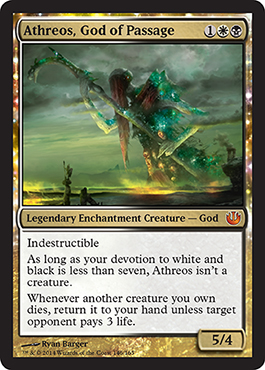 Journey into Nyx Spoiler Athreos, God of Passage Visual Card Image Bild Karte Reise nach Nyx