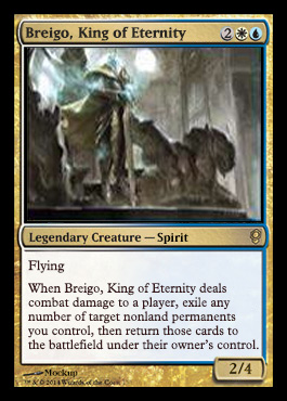 Magic the Gathering Conspiracy Spoiler: Breigo King of Eternity, Mockup, Englisch