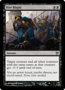 Magic the Gathering Born of the Gods Visual Spoiler Bile Blight Gallenfäule Gallenfaeule