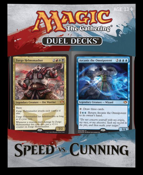 Khans of Tarkir Visual Spoiler Duel Decks Cunnig vs Speed Zurgo Helmsmasher Arcanis the Ominpotent