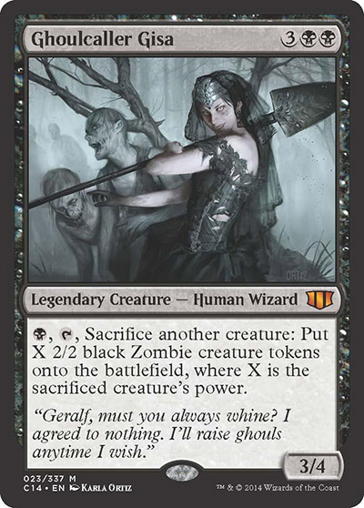 magic the gathering commander 2014 visual spoiler Ghoulcaller Gisa
