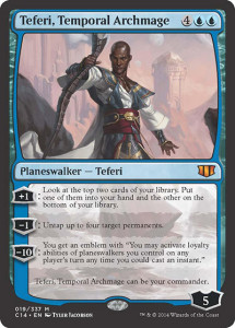 magic the gathering commander 2014 visual spoiler planeswalker Teferi Temporal Archmage