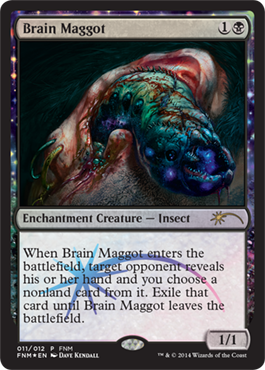 fnm friday night magic promo foil november 2014 brain maggot hirnmade