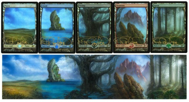 Judge Foil Full Art Lands by Terese Nielsen Promo Foil Basic