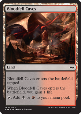 frf fate reforged spoiler dual land alternate artwork bloodfell caves