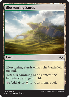 frf fate reforged spoiler dual land alternate artwork blossoming sands