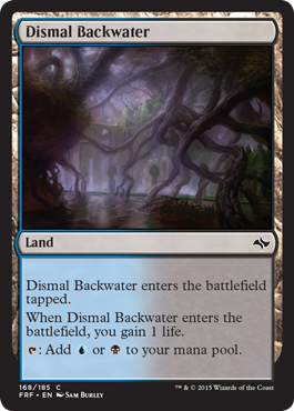 frf fate reforged spoiler dual land alternate artwork dismal backwater