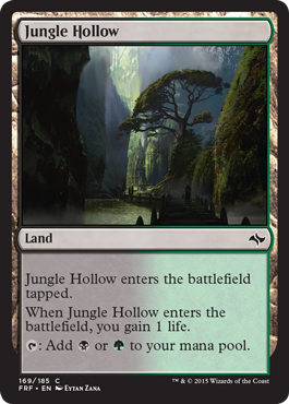 frf fate reforged spoiler dual land alternate artwork jungle hollow