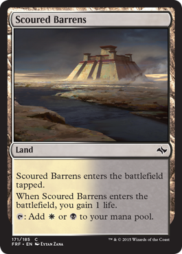 frf fate reforged spoiler dual land alternate artwork scoured barrens