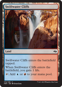 frf fate reforged spoiler dual land alternate artwork  swiftwater cliffs