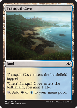frf fate reforged spoiler dual land alternate artwork tranquil cove