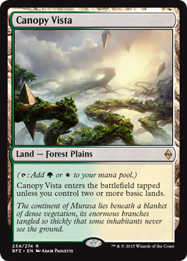 magic the gathering battle for zendikar dual land g w canopy vista