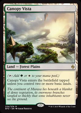 magic the gathering battle for zendikar dual land g w canopy vista