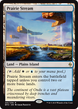 magic the gathering battle for zendikar dual land w u prairie stream